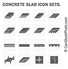 Concrete slab icons - Concrete slab vector icon sets design