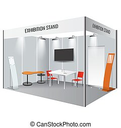 Creative exhibition stand design. Booth template. Corporate...