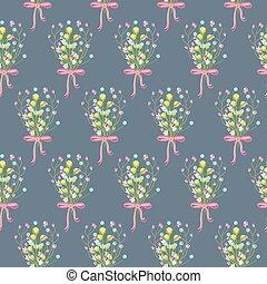 Spring wild flower bouquet seamless pattern - Spring wild...