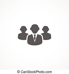 Audience icon - Gray Audience icon on white background