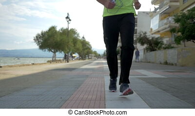 Regular workouts help to keep fit - Slow motion steadicam...