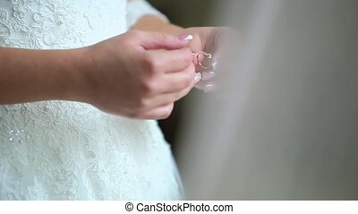 Bride Wears the Ring on Her Finger.