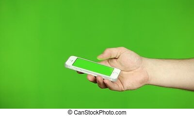 Holding Smartphone of Male Hands - Holding Smartphone,...