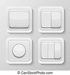 Set of realistic vector switches. - Set of realistic vector...