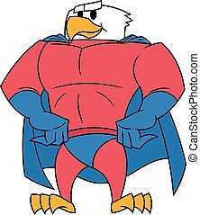 Eagle superhero posing - Illustration of the strong eagle in...