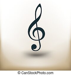 pictogram treble clef - simple square pictograms treble clef...