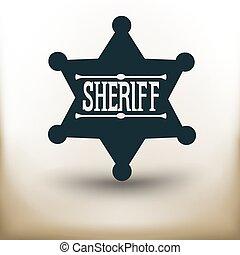 Sheriff badge pictogram
