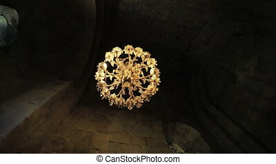 Crystal chandelier in Georgian church - Patriarchal...