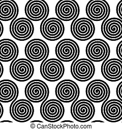 Seamless pattern with spirals, vector background - Seamless...
