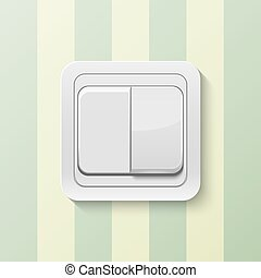Realistic vector switch - Realistic switch isolated on...