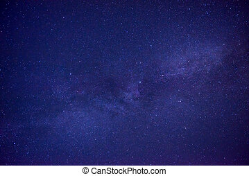 Blue dark night sky with many stars. Space milkyway...