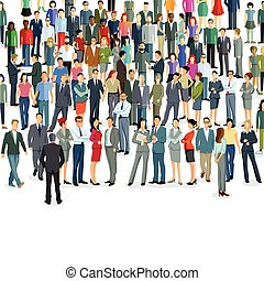 Personen Massen.eps - Groups and crowds on a place