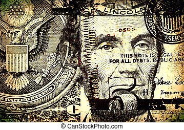 US dollar - Close up of abstract US dollar