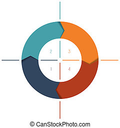 Template Infographics cyclic processes, colour ring from...