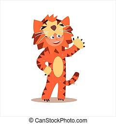 Boy Desguised As Tiger