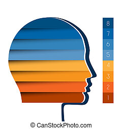Head the person from colour strips template for 8 positions...