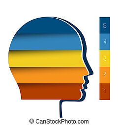 Head the person from colour strips template for 5 positions...