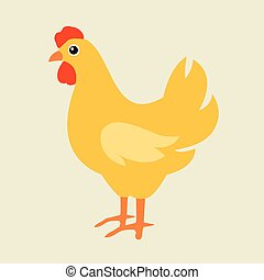 Cute cartoon chicken vector illustration Cartoon chicken...