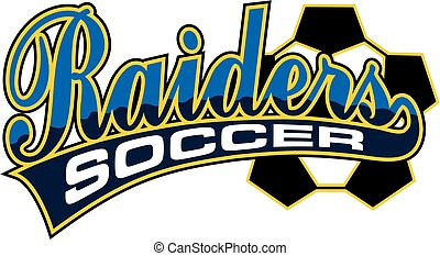 raiders soccer team design for school, college or league