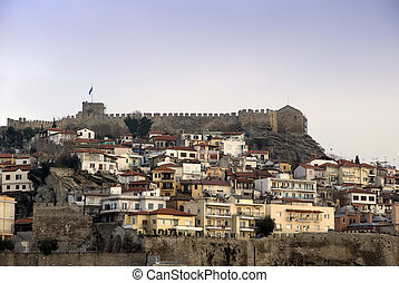 Kavala - View from Kavala, town situated in northern Greece