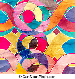 Abstract watercolor retro background - Abstract watercolor...