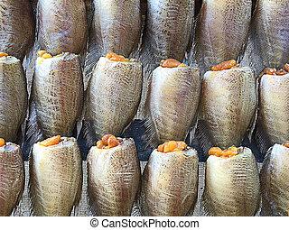 Sun-dried fish