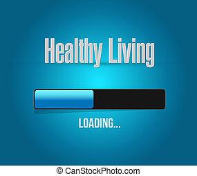 vida, concepto, barra, sano, señal, carga