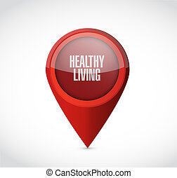 healthy living pointer sign concept