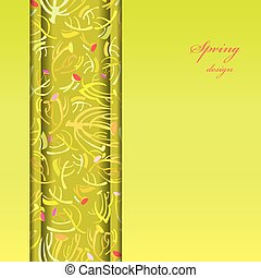 Green sprig background.