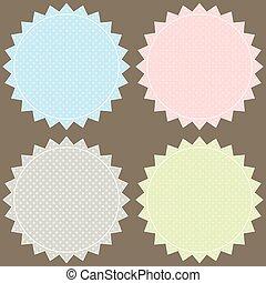 Vector set pastel labels