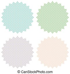 Vintage labels set in pastel tones. Vector image.