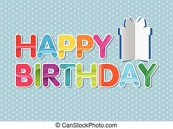 happy birthday greeting vector background