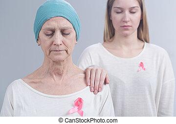 passar, peito, câncer, BAIXO, De,...