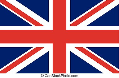 Great Britain Flag English United Kingdom Background Vector...