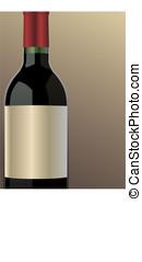 vector wine bottle - Part of a vector wine bottle