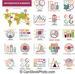 Infographic Elements Set - Set of infographics elements with...