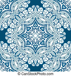 Seamless floral pattern Seamless floral pattern of circular...