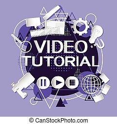 Video Tutorial Editor Concept Modern Technology Abstract...