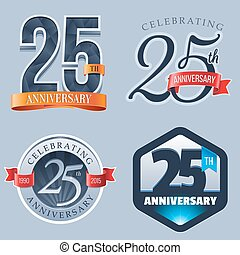 25th Anniversary Logo - A Set of Symbols Representing a 25...