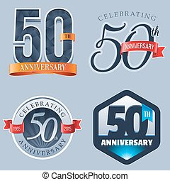 50th Anniversary Logo - A Set of Symbols Representing a 50...