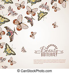 Butterfly Realistic Background - Beautiful butterfly...