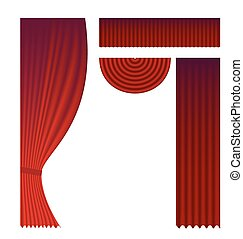 Set of theater curtains