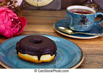 Delicious Sweet Chocolate Donut