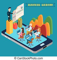 Business Webinar. Webinar Technology. Web Seminar. Modern...