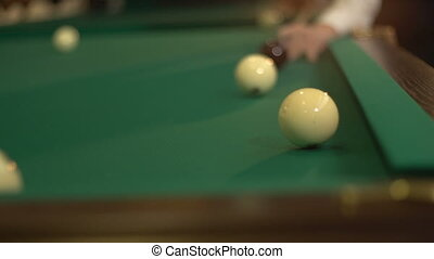 The game of billiards 4 - Russian billiards, board game on a...