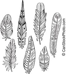 Tribal Ethnic Feathers