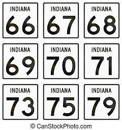 Collection of Indiana Route shields used in the United...