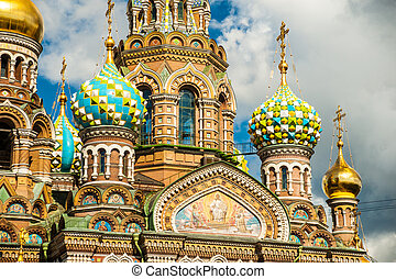 Church of the Savior on Blood in Saint-Petersburg, Russia.