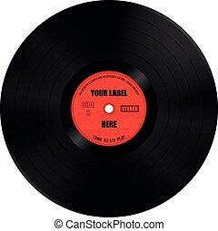 Vinyl Record Long Play - Vector Illustration of Vinyl Record...