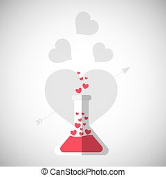 Love with flask design, vector illustration